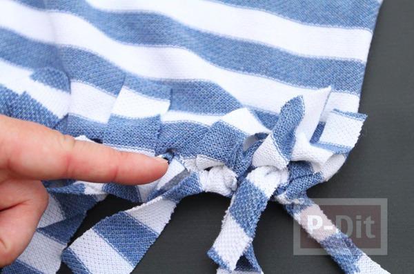 รูป 6 ถุงใส่ผลไม้ ทำจากเสื้อยืด
