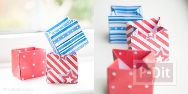 พับถุงกระดาษ ใส่ของขวัญ ลายน่ารักๆ
