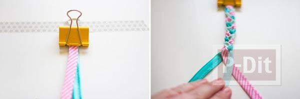 รูป 4 สร้อยข้อมือสวยๆ ทำจากผ้า ถักเปีย