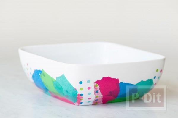 รูป 5 ชามใส่ผลไม้ ติดลายสวย กระดาษว่าวสีสด