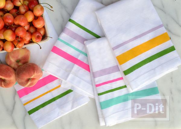 รูป 3 ผ้าเช็ดหน้าลายสวย ระบายสีสด