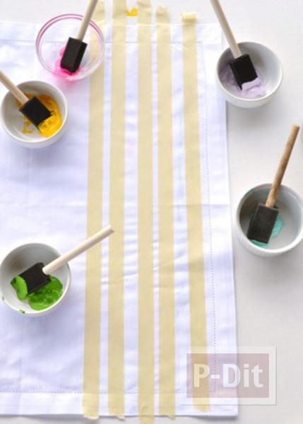 รูป 6 ผ้าเช็ดหน้าลายสวย ระบายสีสด
