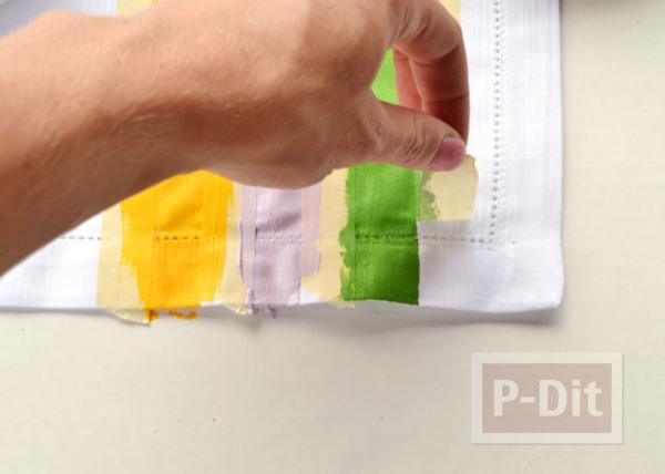 รูป 7 ผ้าเช็ดหน้าลายสวย ระบายสีสด
