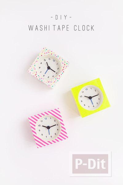 รูป 3 นาฬิกาตั้งโต๊ะ ลายสวย ด้วยสก็อตเทป