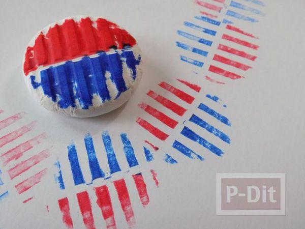 รูป 4 สอนทำตัวปั้ม จากดินประดิษฐ์ ระบายสี