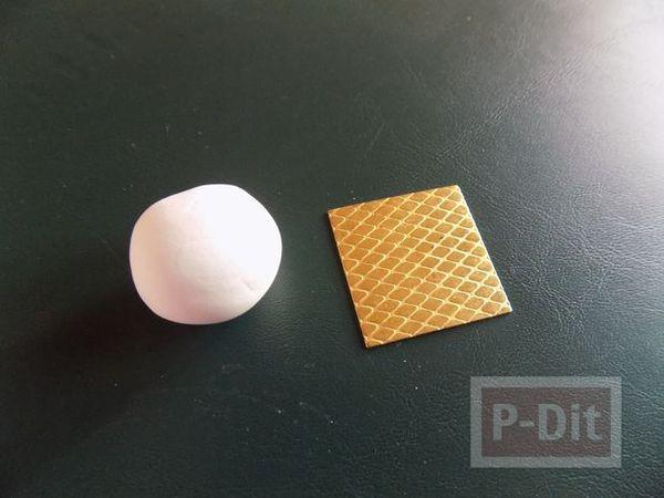 รูป 7 สอนทำตัวปั้ม จากดินประดิษฐ์ ระบายสี