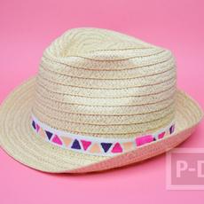 ตกแต่งลายหมวกน่ารักๆ ระบายสีเมจิก