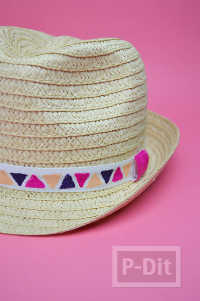 รูป 3 ตกแต่งลายหมวกน่ารักๆ ระบายสีเมจิก