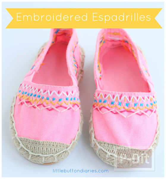 รูป 1 รองเท้าคู่สวย ตกแต่งลายน่ารัก กับด้ายสีสด