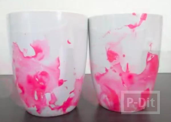 แก้วกาแฟ ลายสวย จากสีทาเล็บ