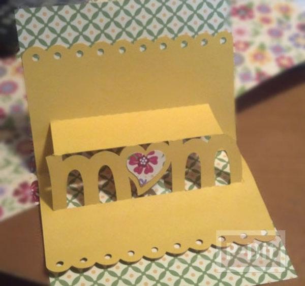รูป 3 การ์ด pop up วันแม่ สวยๆ