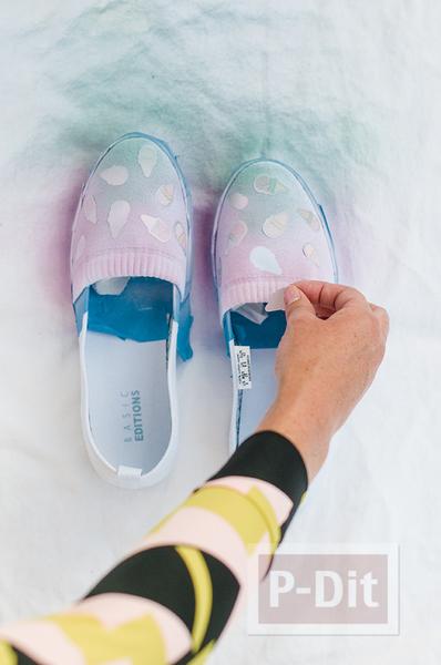 รูป 6 รองเท้าคู่สวย ตกแต่ง พ่นสี ลายไอศกรีม