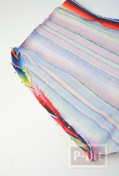 รูป 3 กางเกงขาสั้น สีรุ้ง เย็บเอง แบบง่ายๆ