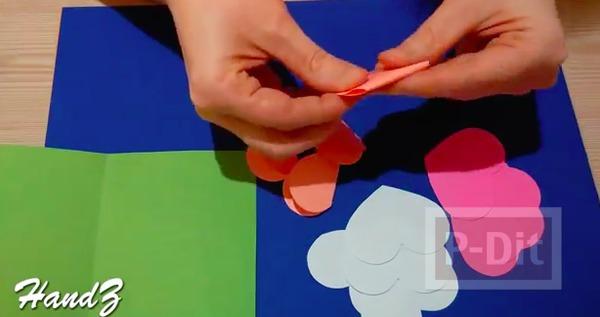 รูป 4 การ์ดป็อพอัพรูปหัวใจ ส่งความรัก วันแม่