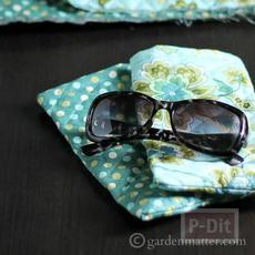 ซองใส่แว่นตา เย็บจากผ้า สีสวย