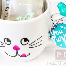ของขวัญน่ารัก ตกแต่งแก้วกาแฟ ลายสวย