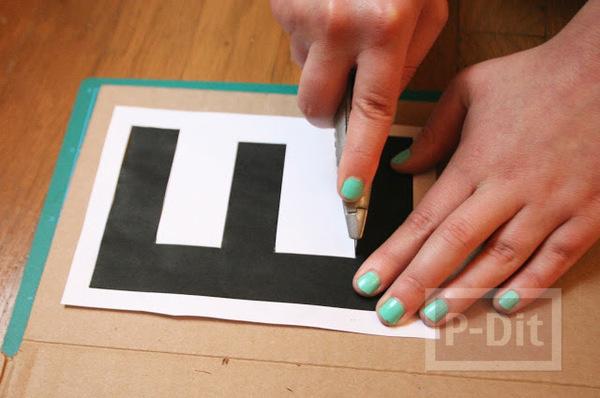 รูป 2 พรมเช็ดเท้าหน้าบ้าน ลายสวย ทาสีเอง