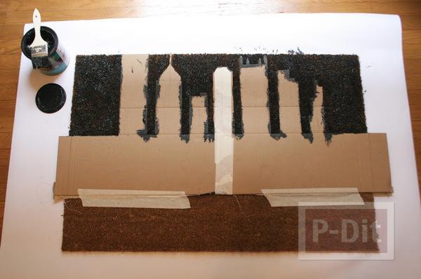 รูป 4 พรมเช็ดเท้าหน้าบ้าน ลายสวย ทาสีเอง