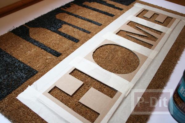 รูป 5 พรมเช็ดเท้าหน้าบ้าน ลายสวย ทาสีเอง