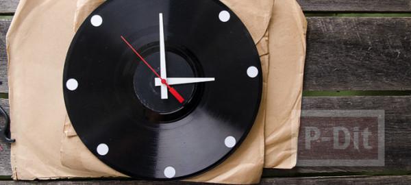 รูป 7 นาฬิกาติดผนัง ทำจากแผ่นเสียง ประดับบ้าน