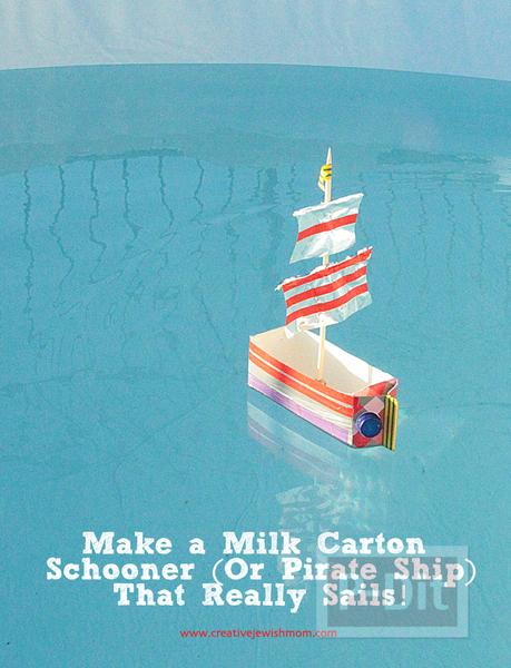 รูป 2 เรือลำเล็ก ทำจากกล่องนม