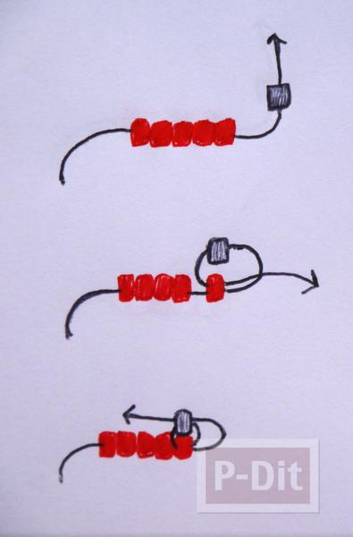 รูป 2 สอนร้อยสร้อยข้อมือสวยๆ ลูกปัดเม็ดเล็กๆ