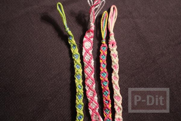 รูป 1 สร้อยข้อมือ ทำจากเชือกสีสด