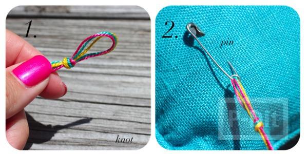รูป 3 สร้อยข้อมือ ทำจากเชือกสีสด