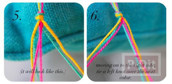 รูป 5 สร้อยข้อมือ ทำจากเชือกสีสด