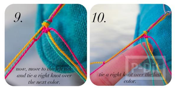รูป 7 สร้อยข้อมือ ทำจากเชือกสีสด