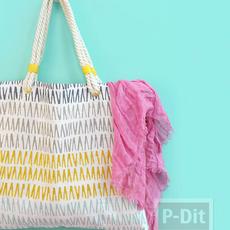 กระเป๋าถือลายสวย ทำจากปลอกหมอนเก่าๆ