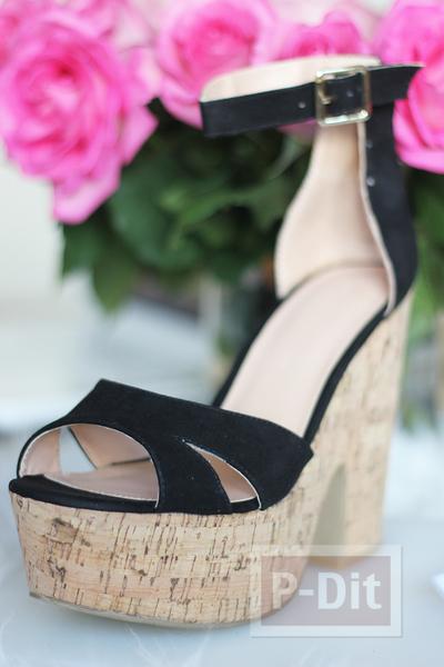 รูป 7 รองเท้าส้นสูง ระบายสีสวย ลายแตงโม