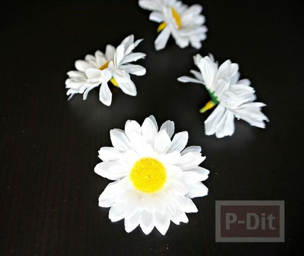 รูป 3 ที่รัดผม ตกแต่งประดับดอกไม้