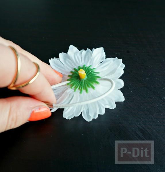 รูป 4 ที่รัดผม ตกแต่งประดับดอกไม้