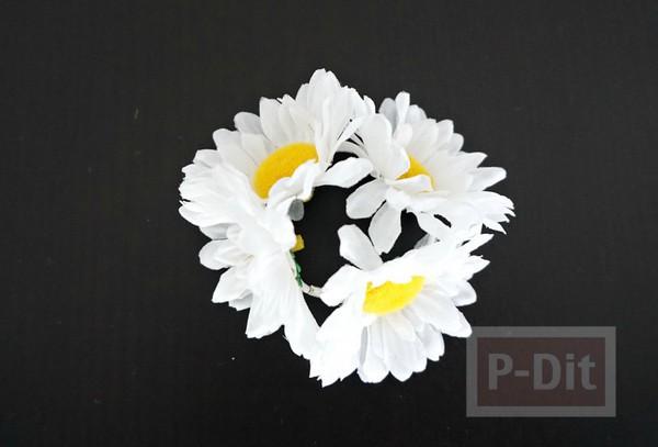 รูป 5 ที่รัดผม ตกแต่งประดับดอกไม้