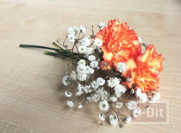 รูป 3 สอนจัดช่อดอกไม้ สวยๆ ผูกริบบิ้น