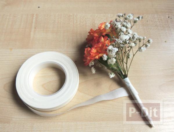 รูป 4 สอนจัดช่อดอกไม้ สวยๆ ผูกริบบิ้น