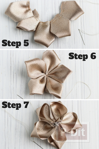 รูป 5 สอนทำดอกไม้สวยๆ จากริบบิ้น