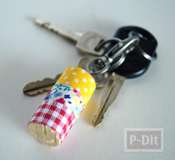 รูป 7 พวงกุญแจไม้ก็อกสวยๆ ประดับสก็อตเทปลายน่ารัก