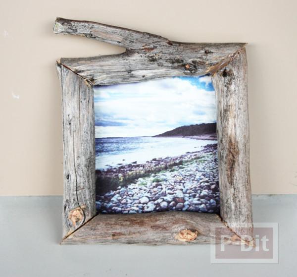 รูป 1 สอนทำกรอบรูป จากท่อนไม้เก่าๆ