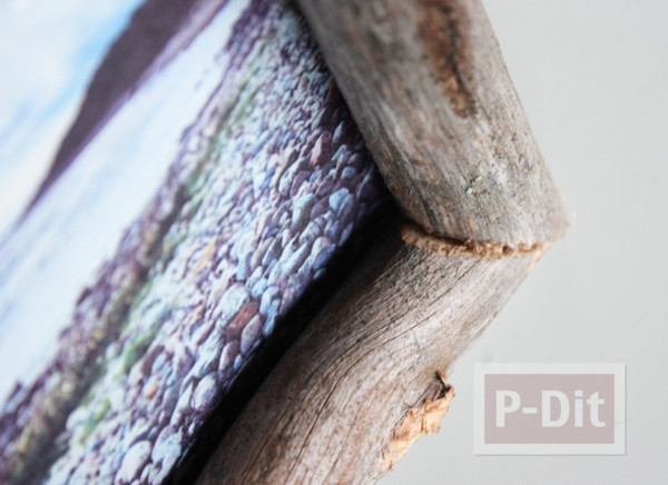 รูป 3 สอนทำกรอบรูป จากท่อนไม้เก่าๆ