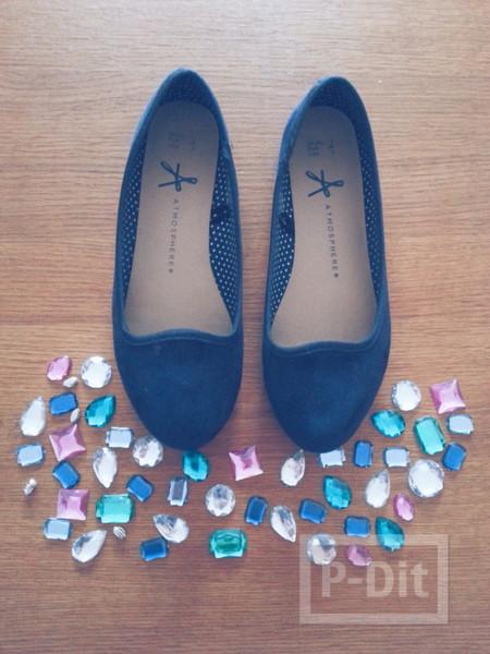รูป 6 รองเท้าคัชชู ตกแต่งประดับลายสวย