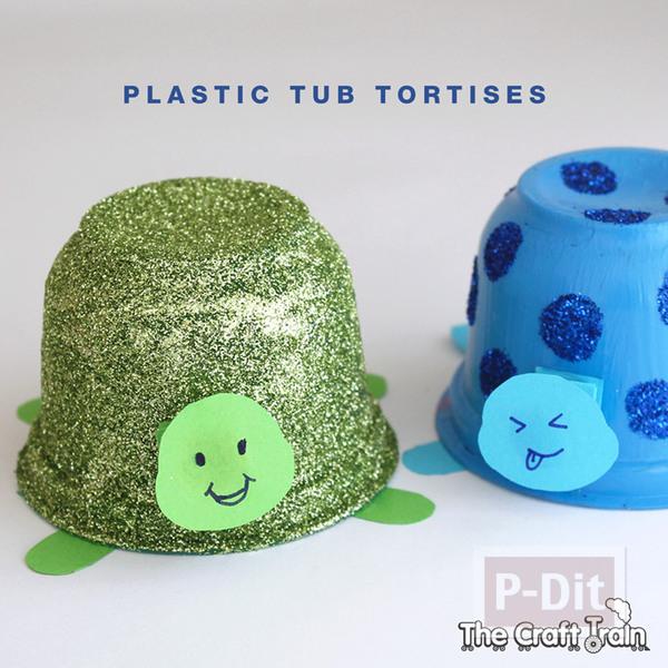 รูป 2 ประดิษฐ์ของเล่น เต่าถ้วยโฟม น่ารักๆ