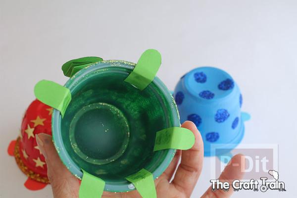 รูป 7 ประดิษฐ์ของเล่น เต่าถ้วยโฟม น่ารักๆ