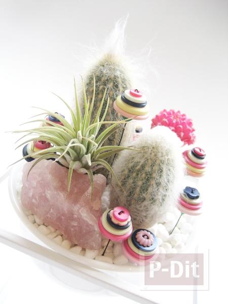 รูป 2 สอนทำดอกไม้จากกระดุม ประดับแจกันสวยๆ