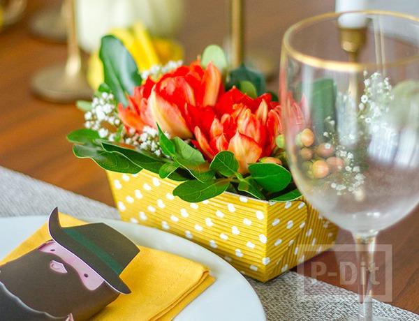 รูป 1 สอนจัดกระถางดอกไม้สวยๆ ประดับโต๊ะอาหาร