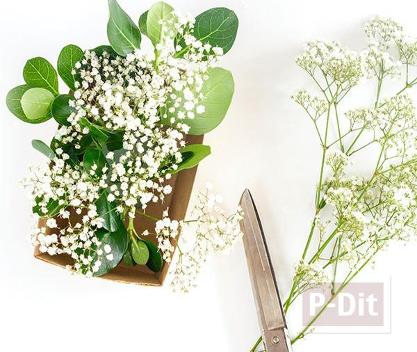 รูป 6 สอนจัดกระถางดอกไม้สวยๆ ประดับโต๊ะอาหาร