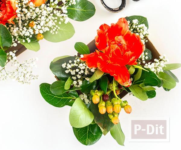 รูป 7 สอนจัดกระถางดอกไม้สวยๆ ประดับโต๊ะอาหาร