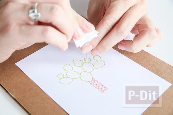 รูป 6 การ์ดสวยๆ ตกแต่งแบบง่ายๆด้วย ด้ายสีสด