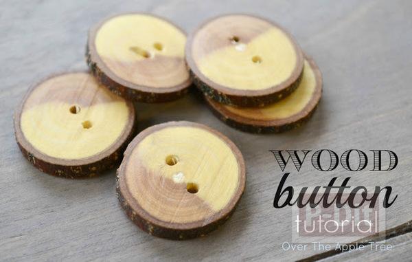 ทำกระดุม จากกิ่งไม้